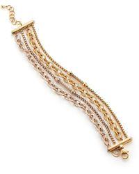 Alor Multi-strand Rose & Yellow Goldtone Stainless Steel Bracelet - Metallic