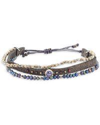 Chan Luu - Peacock Blue Freshwater Pearl Beaded Bracelet - Lyst