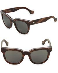 Balenciaga 50mm Square Sunglasses - Brown