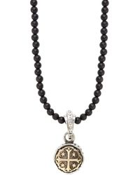 King Baby Studio - Sterling Silver & Onyx Pendant Necklace - Lyst