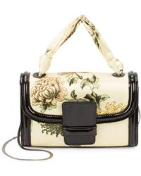 Dries Van Noten Small Floral Top-handle Bag - White