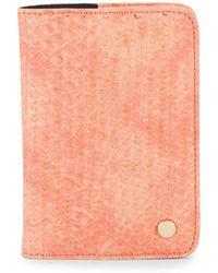 Deux Lux - Textured Faux Leather Wallet - Lyst