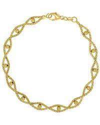 Saks Fifth Avenue - 14k Yellow Gold Textured Beaded Bracelet - Lyst