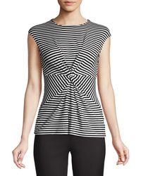 Bailey 44 Women's Stripe Knot Top - Black White - Size S