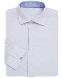 Bugatchi - Checkered Cotton Dress Shirt - Lyst