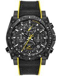 Bulova Men's Precisionist Strap Watch, 46.5mm - Black