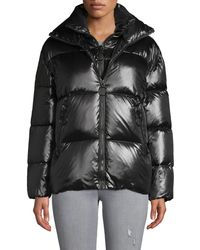 The Very Warm Double Collar Down Puffer - Black