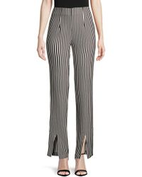 Lovers + Friends - Arya Striped High-rise Trousers - Lyst