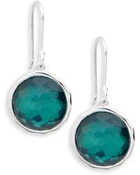Ippolita Wonderland Sterling Silver Doublet Circle Drop Earrings - Multicolour