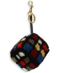 Anya Hindmarch - Shearling Rubiks Cube Keychain - Lyst