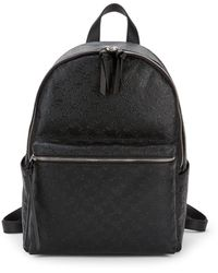 French Connection Marin Embossed Faux Leather Backpack - Brown