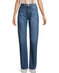 IRO Slate High-rise Straight-leg Jeans - Blue
