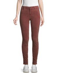J Brand Maria High-rise Velvet Skinny Jeans - Multicolor
