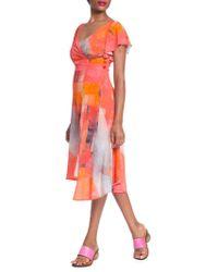 Tracy Reese - Side-button Asymmetrical Surplice Dress - Lyst