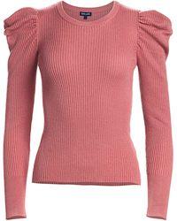 Splendid Puff-sleeve Jumper - Pink