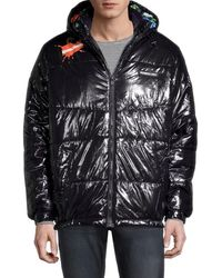 Members Only Men's X Nickelodeon Shiny Puffer - Black - Size S