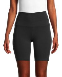 Marc New York Stretch-cotton Biker Shorts - Black
