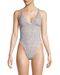 Dolce Vita Leopard-print One-piece Swimsuit - Multicolour