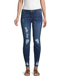Siwy Hannah Destroyed Skinny Jeans - Blue