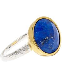 Gurhan 24k Yellow Goldplated Sterling Silver & Lapis Ring - Multicolour