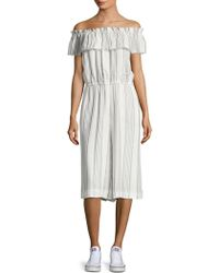 Saks Fifth Avenue - Striped Off-the-shoulder Romper - Lyst