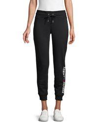 Tommy Hilfiger Logo Cotton-blend Jogger Pants - Black