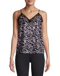 Olivia Rubin Zebra Stripe Sequin Top - Pink
