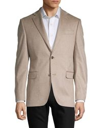 Saks Fifth Avenue Classic Cashmere Notch Jacket - Natural