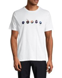 Paul Smith Men's Marble Graphic T-shirt - White - Size S