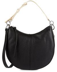 Vince Camuto Aisha Leather Shoulder Bag - Black
