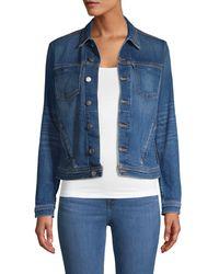 L'Agence Celine Cotton-blend Jacket - Blue