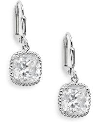 Saks Fifth Avenue - Square Drop Earrings - Lyst