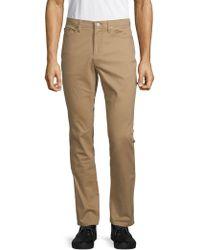 Saks Fifth Avenue 5 Pocket Sateen Pants - Natural