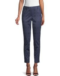 Tommy Hilfiger Tapered Plaid Pants - Blue