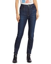 RE/DONE Ultra High-rise Skinny Ankle Jeans - Blue