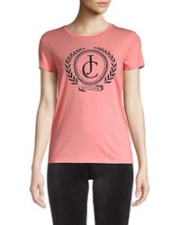 Juicy Couture - Laurel Graphic Cotton Tee - Lyst