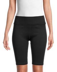 Calvin Klein Women's Rib-knit Bike Shorts - Juniper - Size S - Black