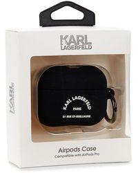Karl Lagerfeld Logo Airpod Pro Case - Black