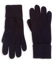 Portolano Folded Cuffs Cashmere Gloves - Black
