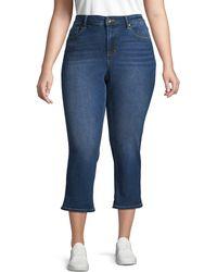 Max Studio Plus Classic High-rise Jeans - Blue