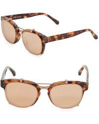 a727cb3389f Linda Farrow - Tortoiseshell 49mm Professor Sunglasses - Lyst