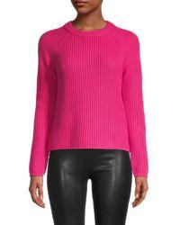 525 America Women's Jane Raglan Pullover Sweater - Hibiscus - Size S - Pink