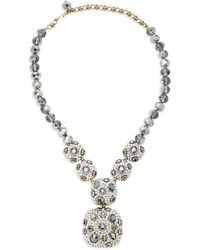 Heidi Daus - Hematite Square Crystal Necklace - Lyst