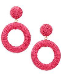 Panacea - Wrapped Circle Drop Earrings - Lyst
