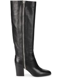 Sergio Rossi Knee-high Leather Boots - Black