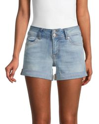 Hudson Jeans Women's Ruby Rolled-cuff Denim Shorts - South End - Size 24 (0) - Blue
