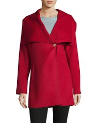 Laundry by Shelli Segal - Cape Collar Mid Coat - Lyst