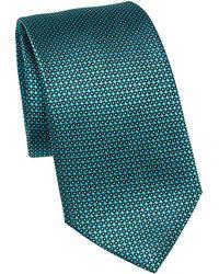 Emporio Armani Silk Dot Tie - Green