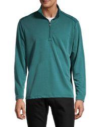 Tommy Bahama Men's Regular-fit Quarter-zip Sweater - Seaway - Size L - Green