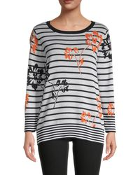 Joseph A Striped & Floral Jumper - Multicolour